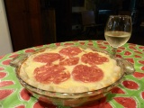 Creamy Tomato Pie with Basil Parmesan Crust