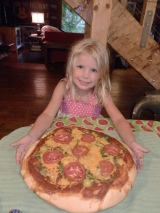 Pizza Pie with Heirloom Tomatoes